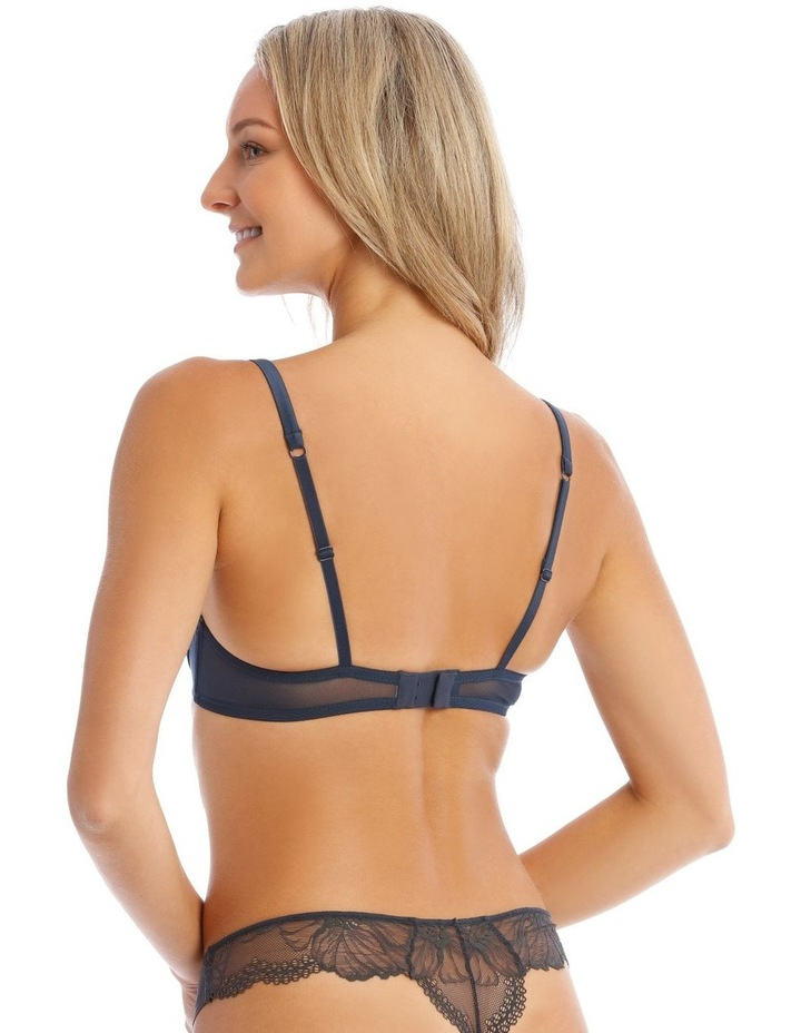 Willow Non-Moulded Underwire Bra in Navy image 2