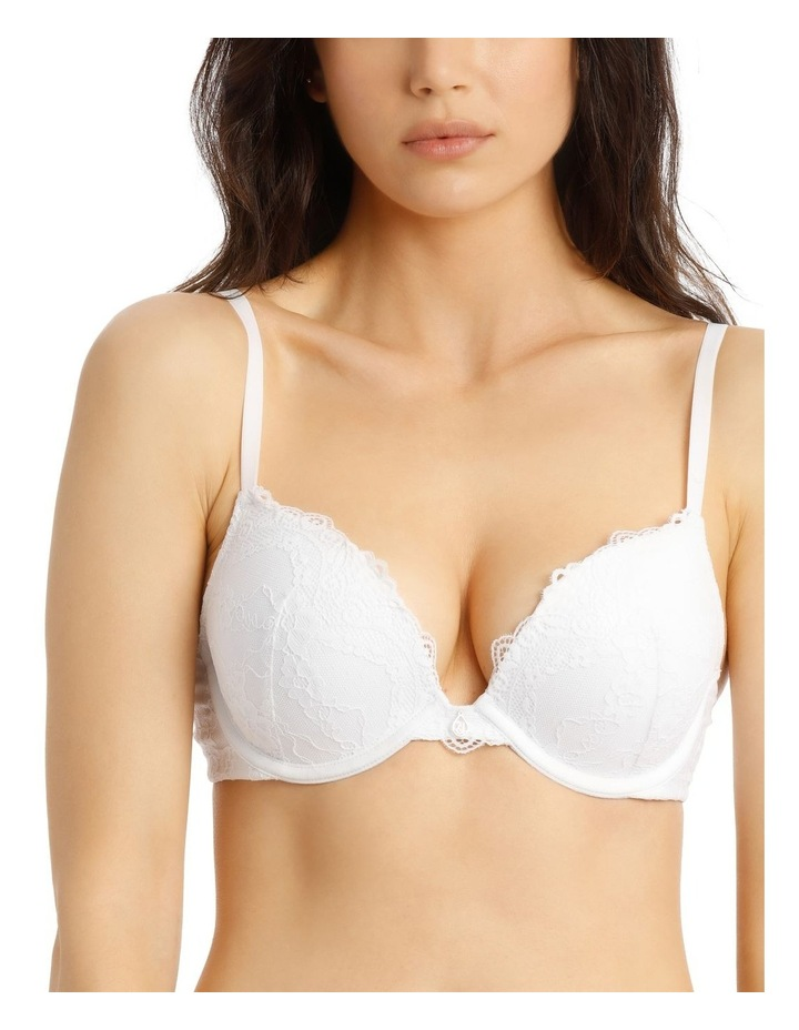 Lace Comfort Contour Push Up Bra - White image 3