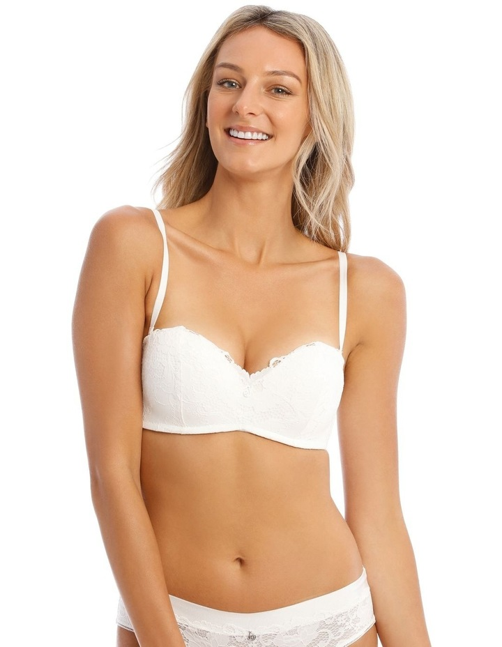 Ayla Double-Boost Wirefree Bra in White image 1