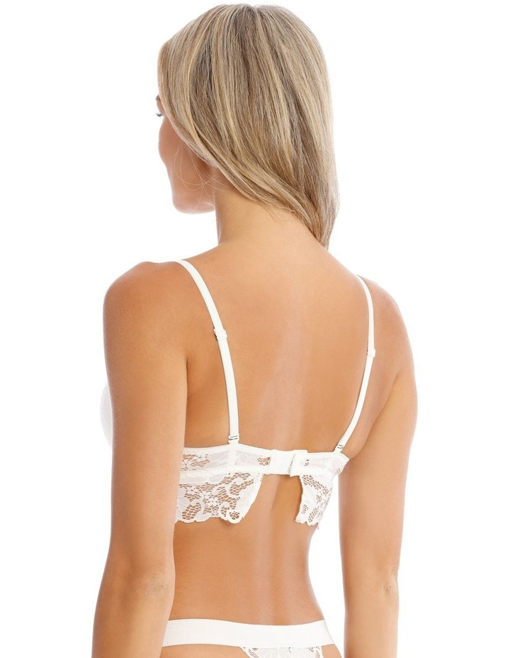 Ayla Wirefree Bra in White image 2