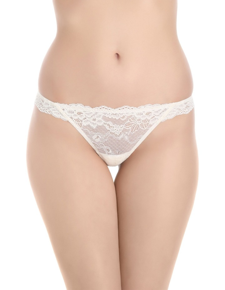 'OMB' Lace Thong P37-4053F image 1