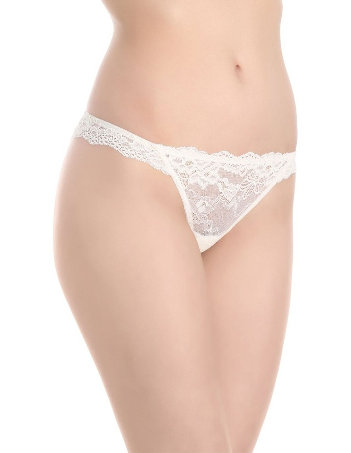 'OMB' Lace Thong P37-4053F image 2