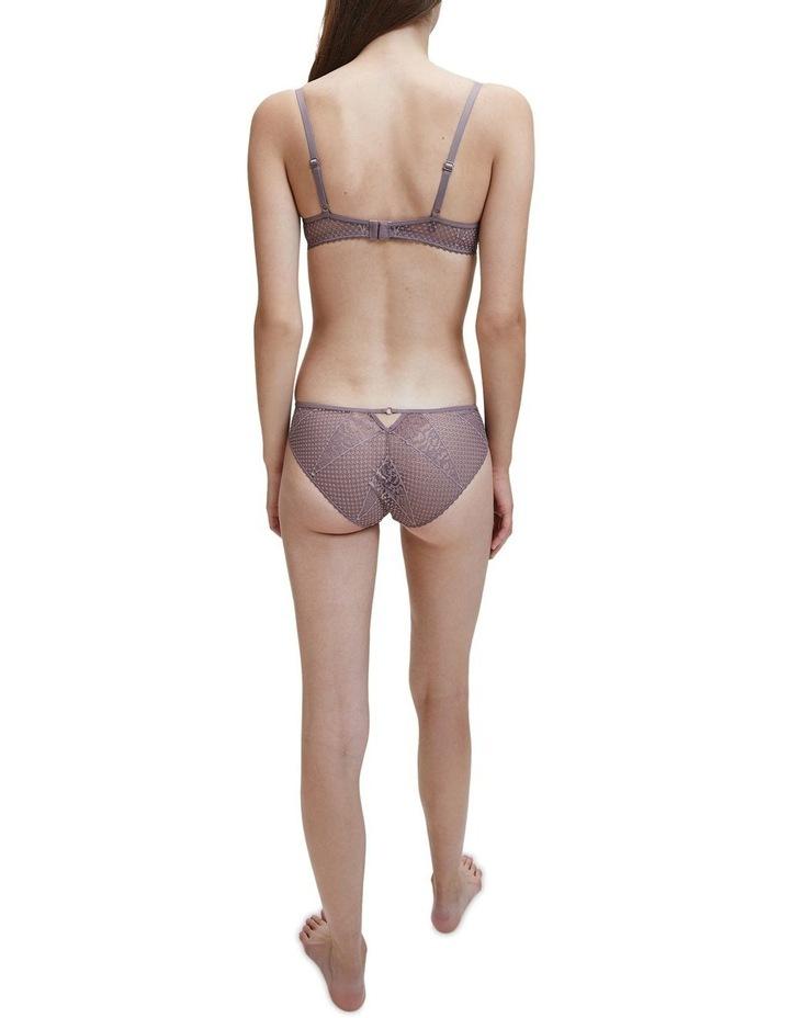 Triangle Lace Plunge Push-Up Bra image 2