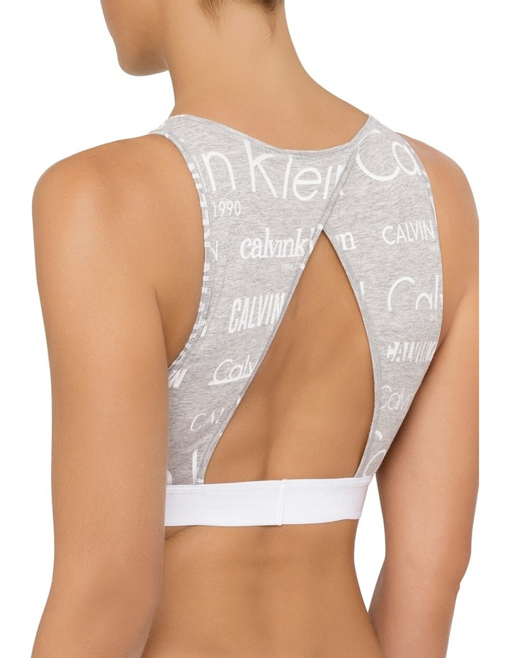Heritage Logo High Neck Unlined Bralette QF4056 image 2