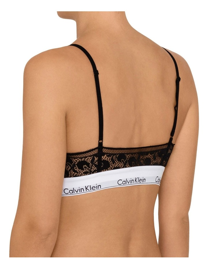 Calvin Klein Modern Cotton Cherry Lace Unlined Triangle Bra QF4957 image 2