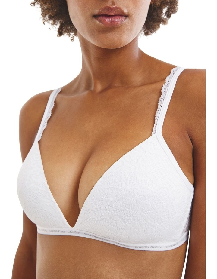 CK One Lace Lightly Lined Triangle Bra image 3