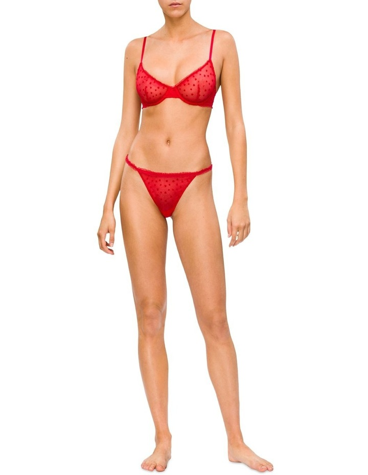 Calvin Klein Flocked Hearts (V-Day) Thong Qf5483 image 3