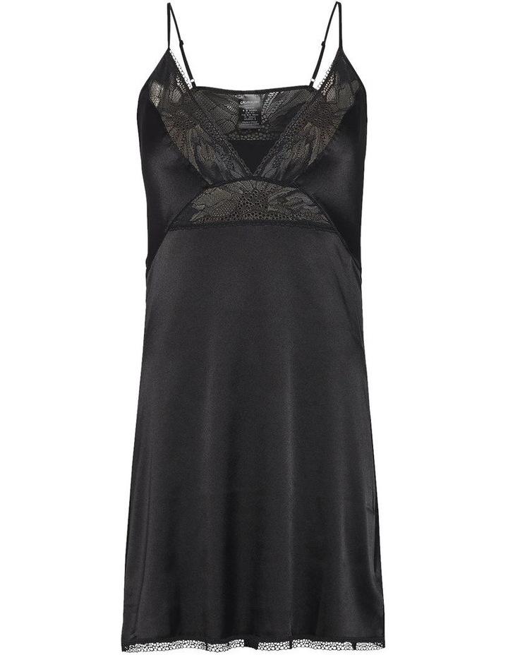 Calvin Klein Black Petal Lace Chemise QS6322 image 1