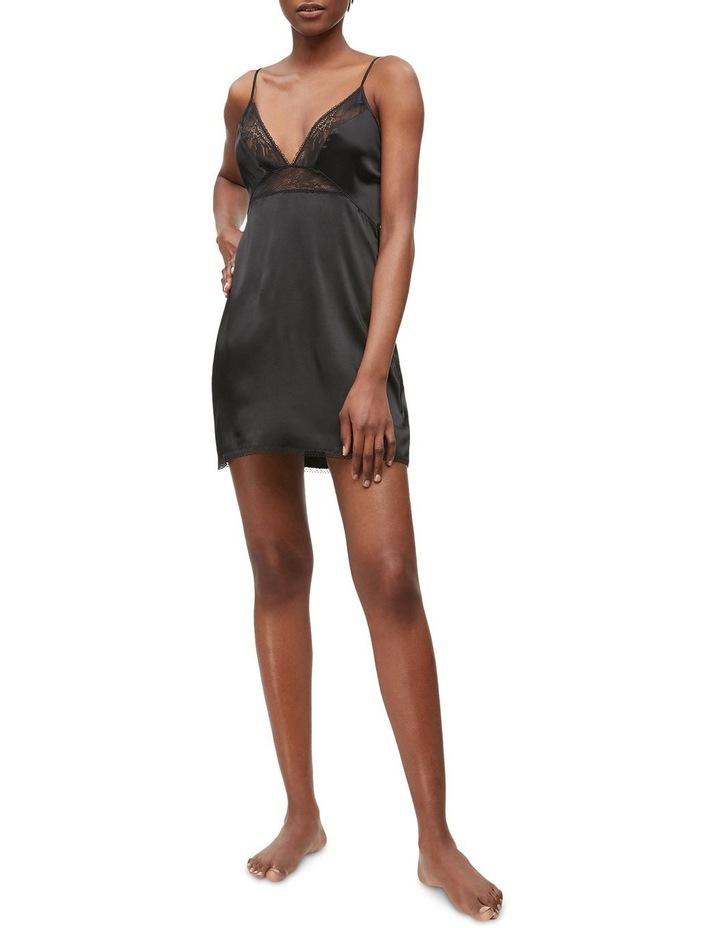 Calvin Klein Black Petal Lace Chemise QS6322 image 2