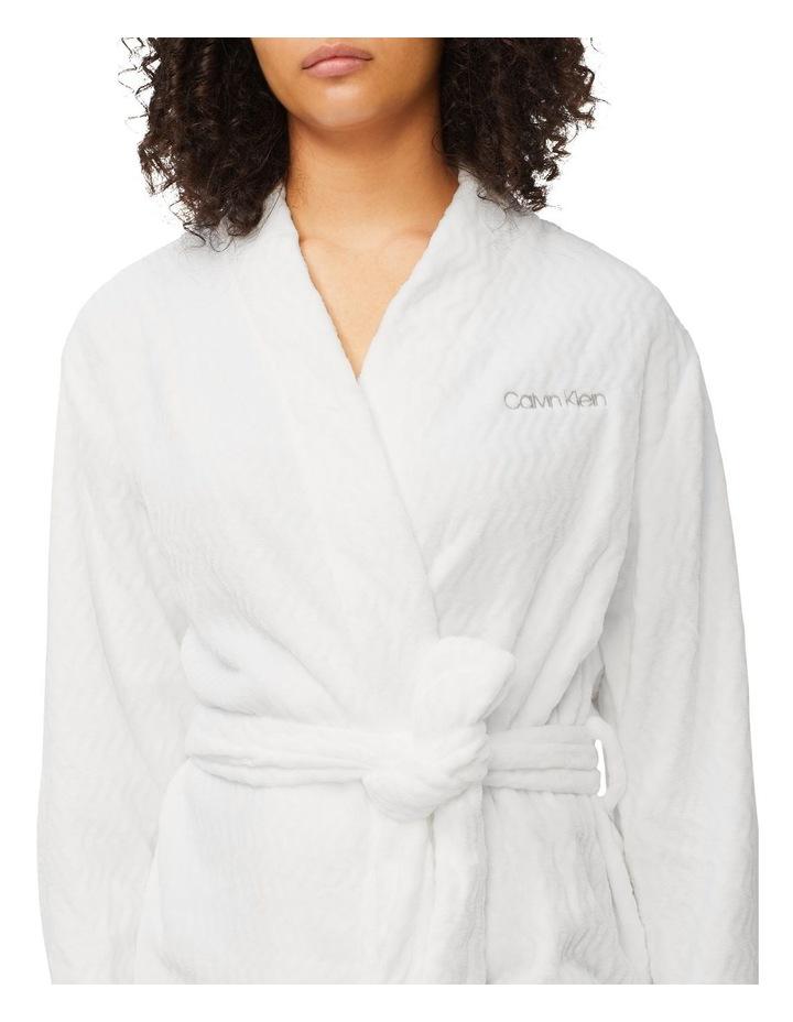 Fluffy Chevron Textured Robe image 4