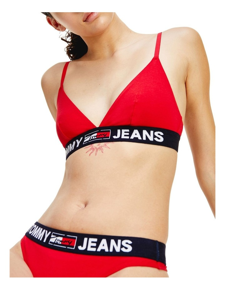 Logo Under-Band Unlined Triangle Bra Red image 4