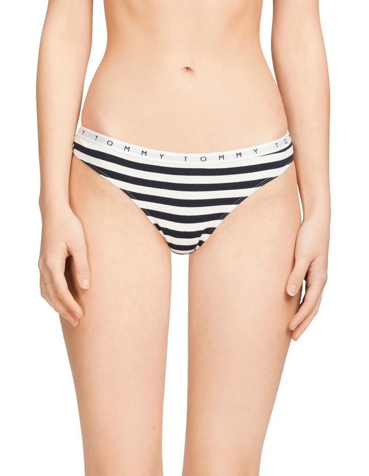 Stripe Logo Cotton Thong image 1