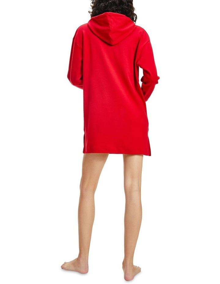 Organic Cotton Signature Logo Hoodie Dress image 2