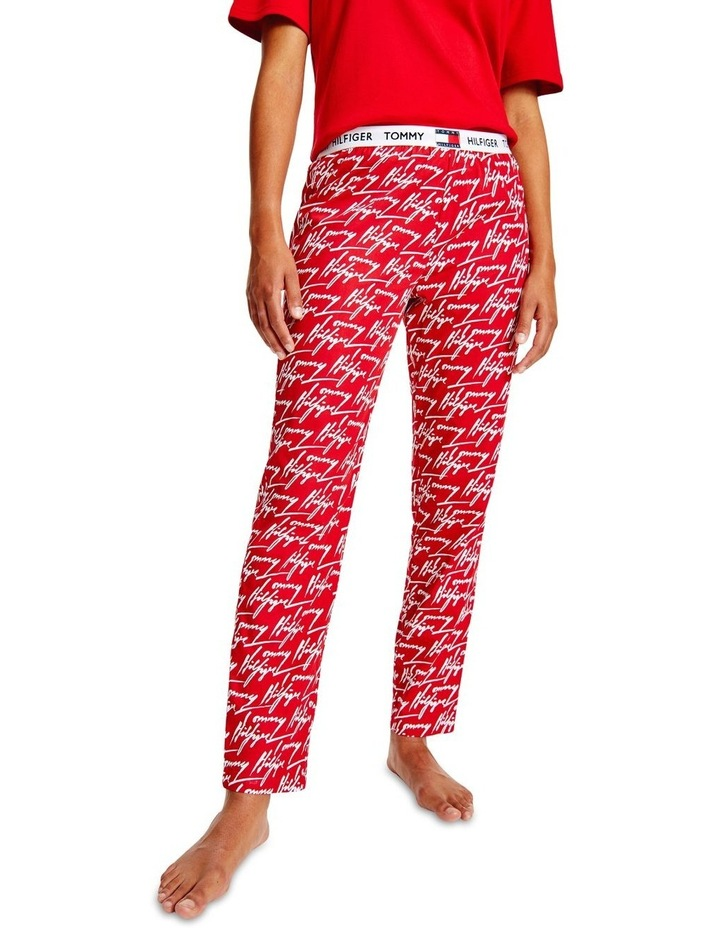 Organic Cotton Signature Logo Trousers Red image 1
