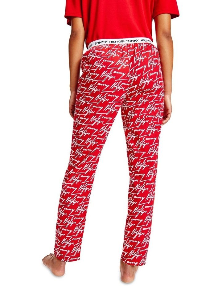 Organic Cotton Signature Logo Trousers Red image 2