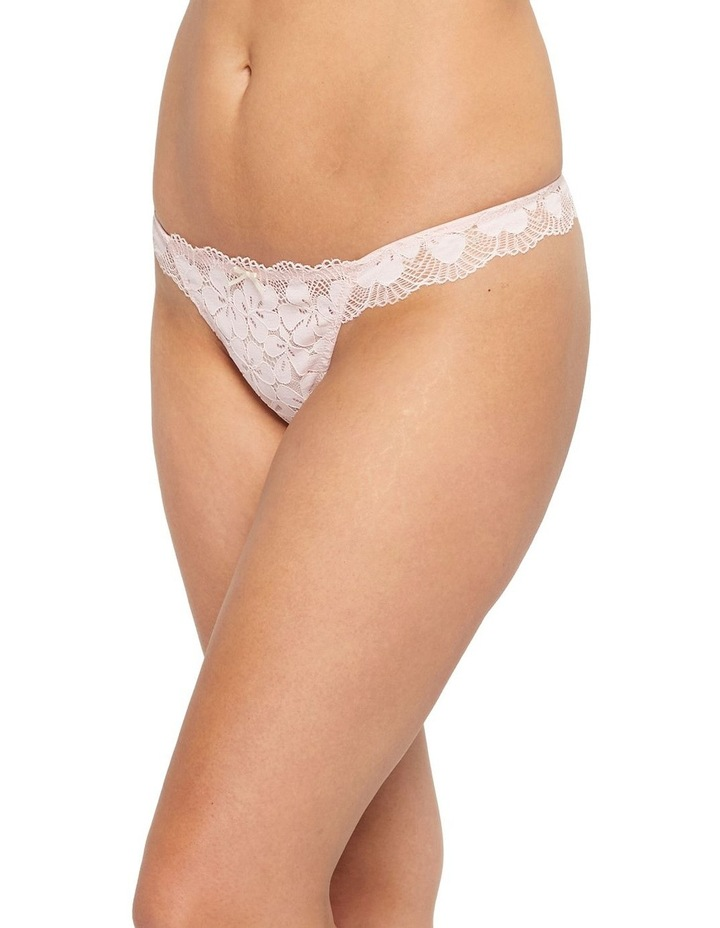 Delicate Floral Lace G-String Brief image 2