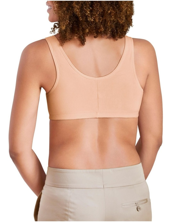 Frances Soft Cup Leisure Bra In White & Nude image 2