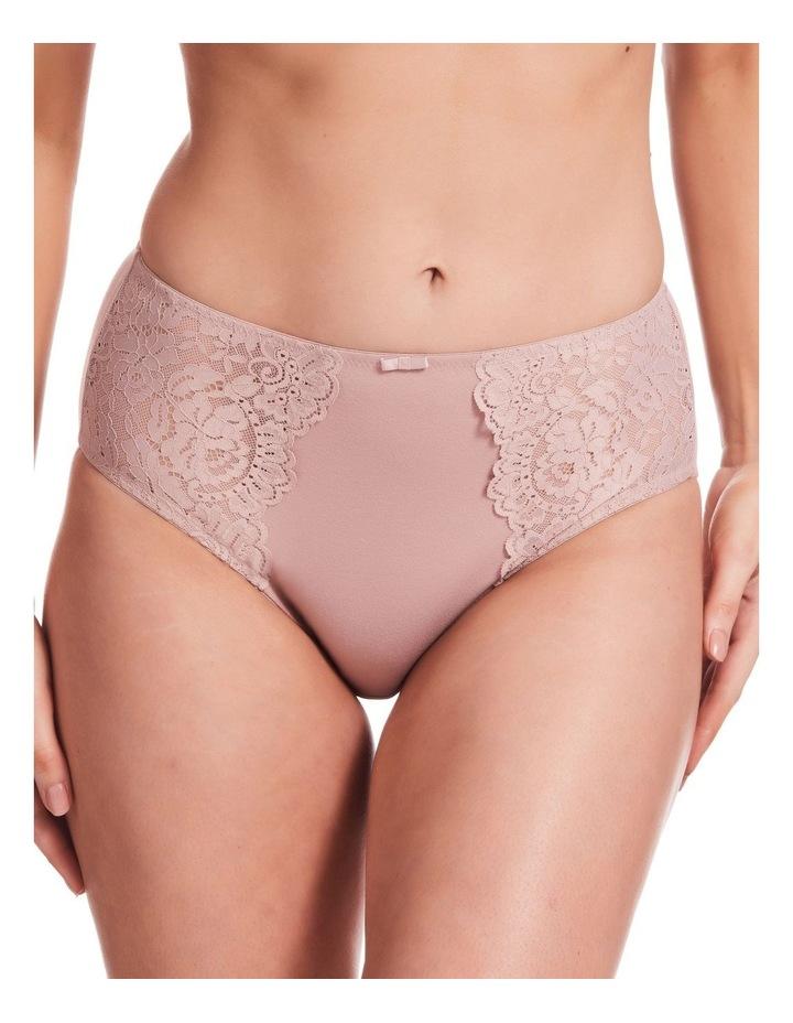 Stretch Cotton & Lace Full Brief Blush image 1