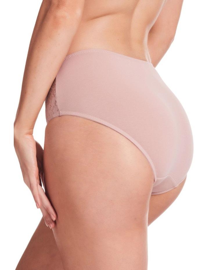 Stretch Cotton & Lace Full Brief Blush image 2