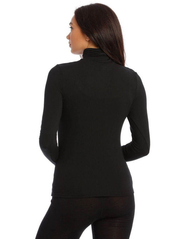 Modal Thermal Roll Neck Long Sleeve Top image 2