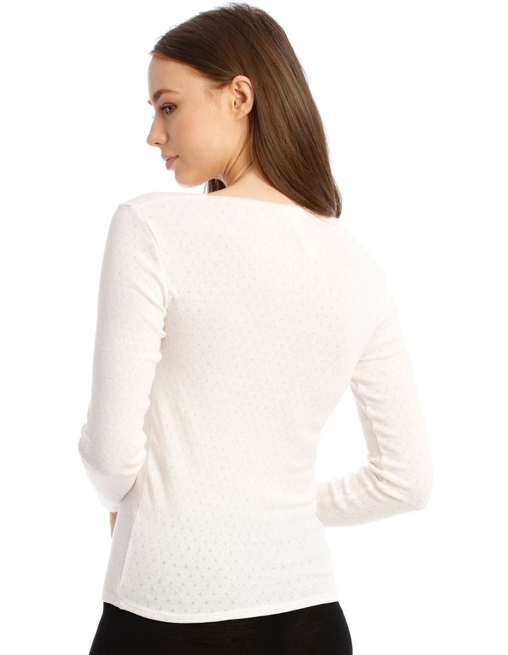 Pointelle Thermal Long Sleeve Top image 2