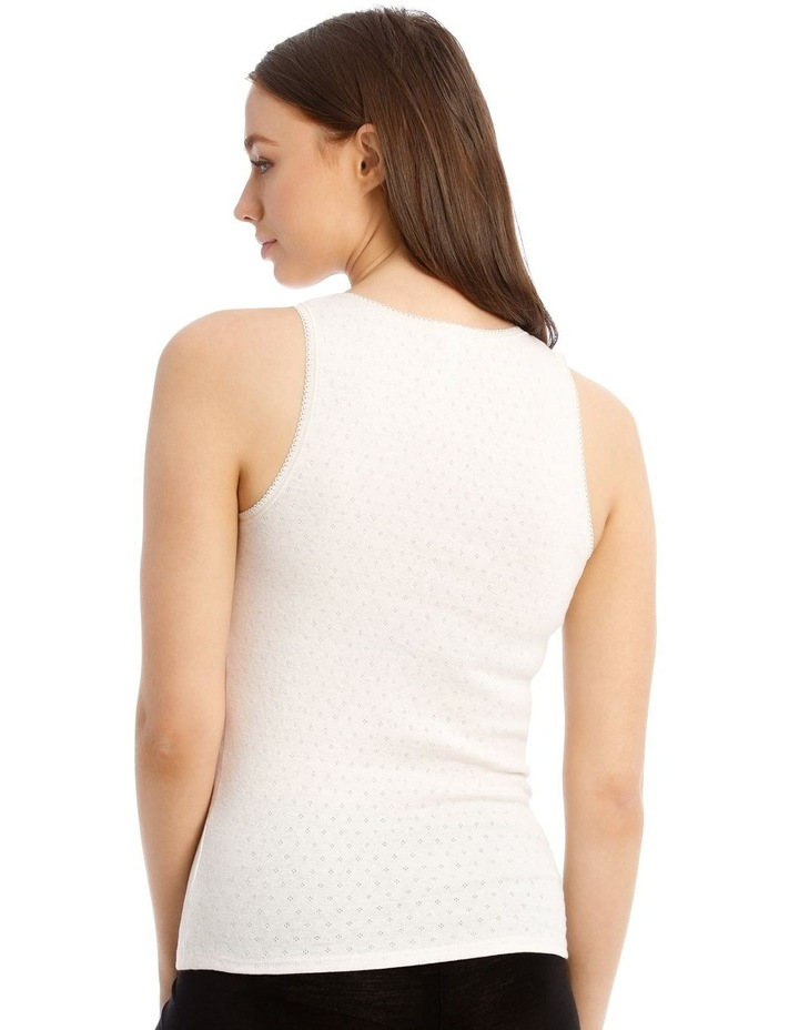 Pointelle Thermal Tank Top image 2