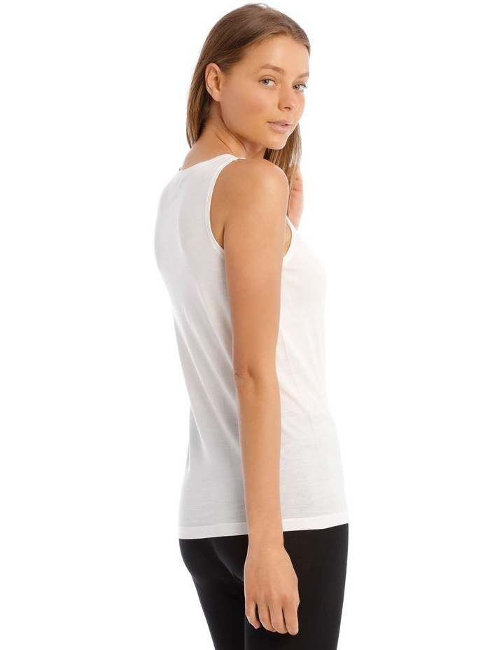 Wool & Bamboo Thermal Tank Top in White image 3