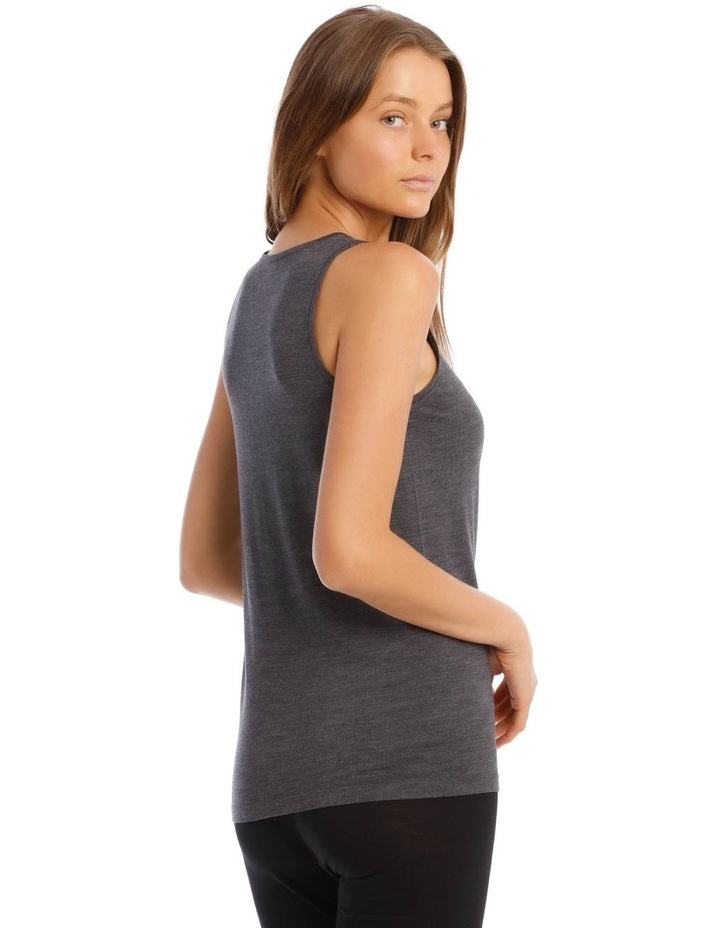 Wool & Bamboo Thermal Tank Top in Charcoal image 3