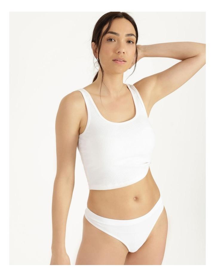Organic Cotton G-String White image 1