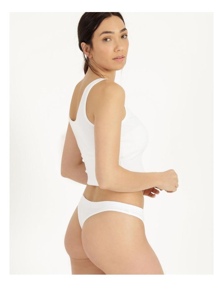 Organic Cotton G-String White image 6