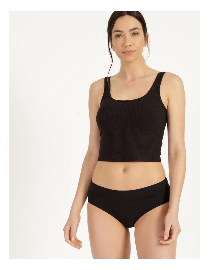 Organic Cotton Bikini Black image 1