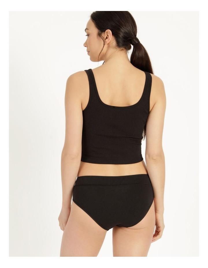 Organic Cotton Bikini Black image 3