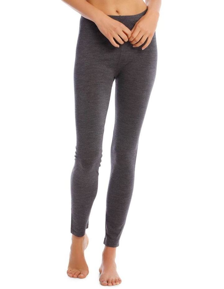 Wool & Bamboo Thermal Legging in Charcoal image 1