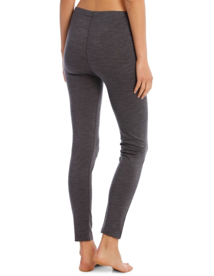 Wool & Bamboo Thermal Legging in Charcoal image 3