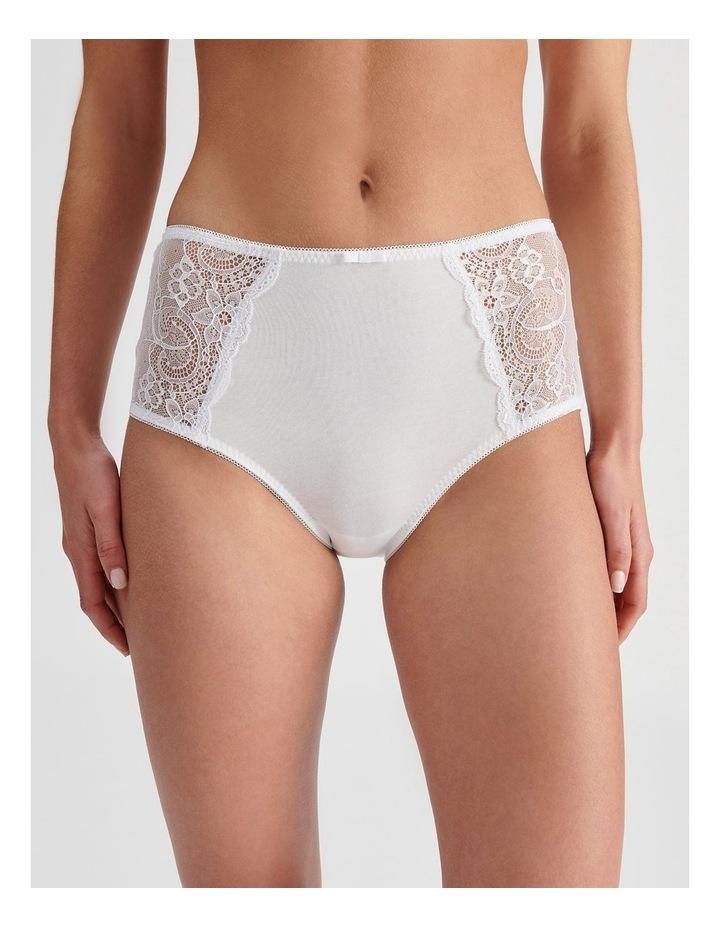 Lace Panel Cotton Full Brief image 1