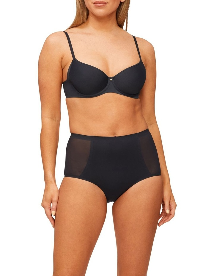 Solid & Sheer Waisted Brief Black image 4