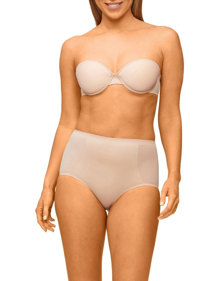 Solid & Sheer Waisted Brief Warm Taupe image 4