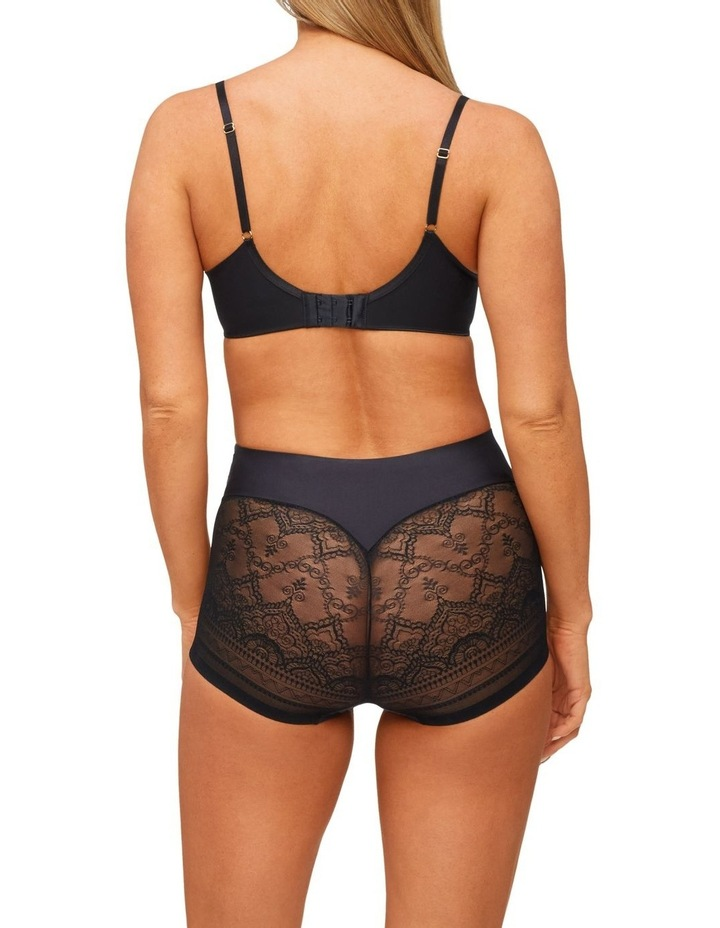 Geo Lace Waisted Brief Black image 2