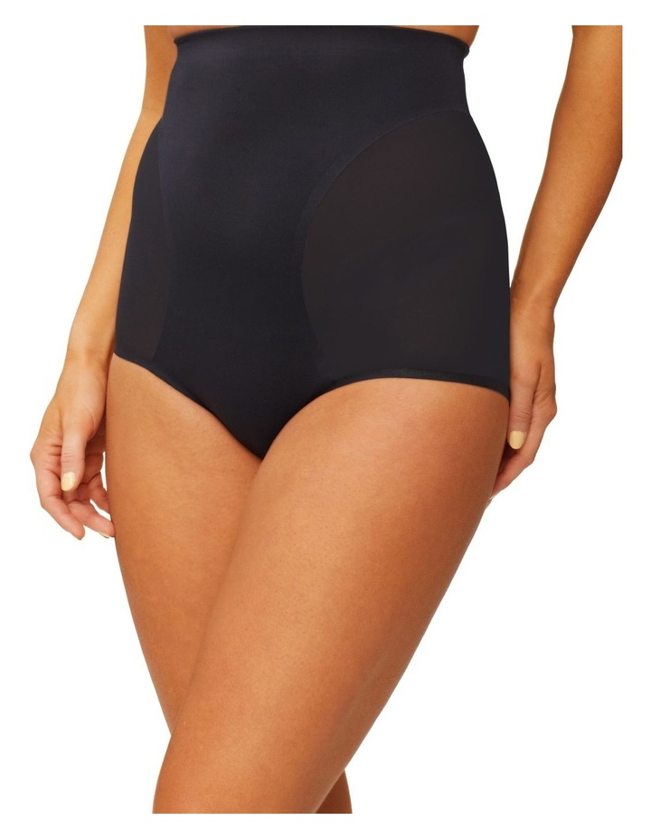 Solid & Sheer High Waisted Brief Black image 1