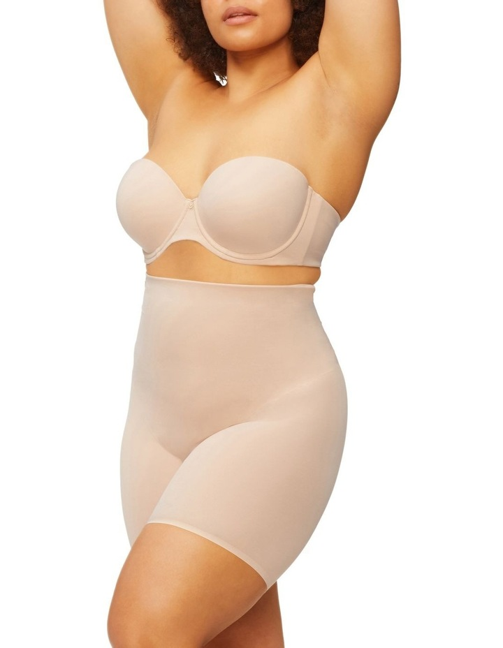 Solid & Sheer High Waist Thigh Shaper Warm Taupe image 3