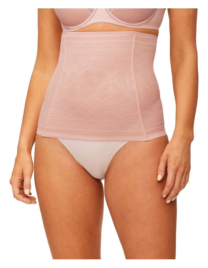 Geo Lace High Waisted Thong Rose image 1