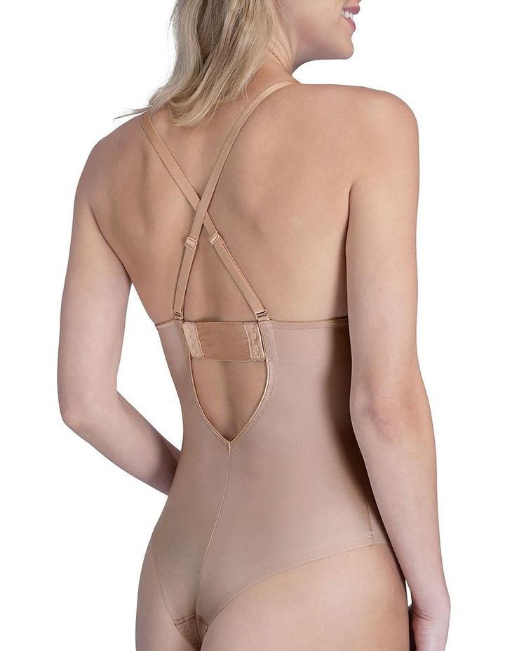 Suit Your Fancy Plunge Low Back Thong Bodysuit 10206R image 3