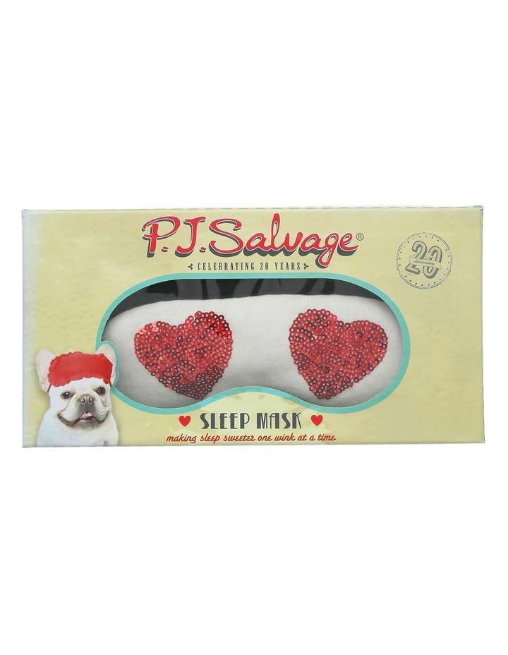 PJ Salvage 'Sleep Masks' Sequin Love Heart REE3 image 1