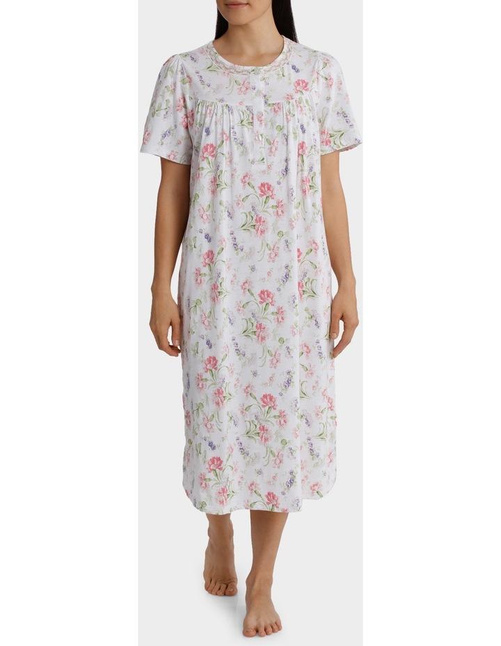 """Gwen"" Short Sleeve Midlength Nightie 6LP68G image 1"