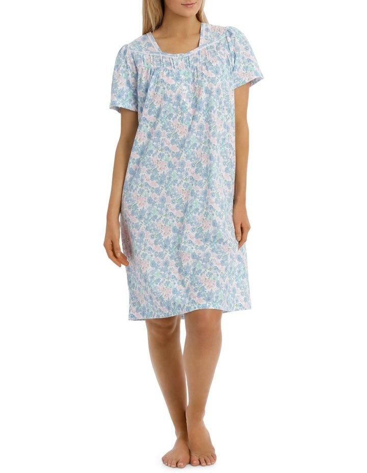 'Print Jersey Knit' Vicky Short Sleeve Short Nightie 6LP04V image 1