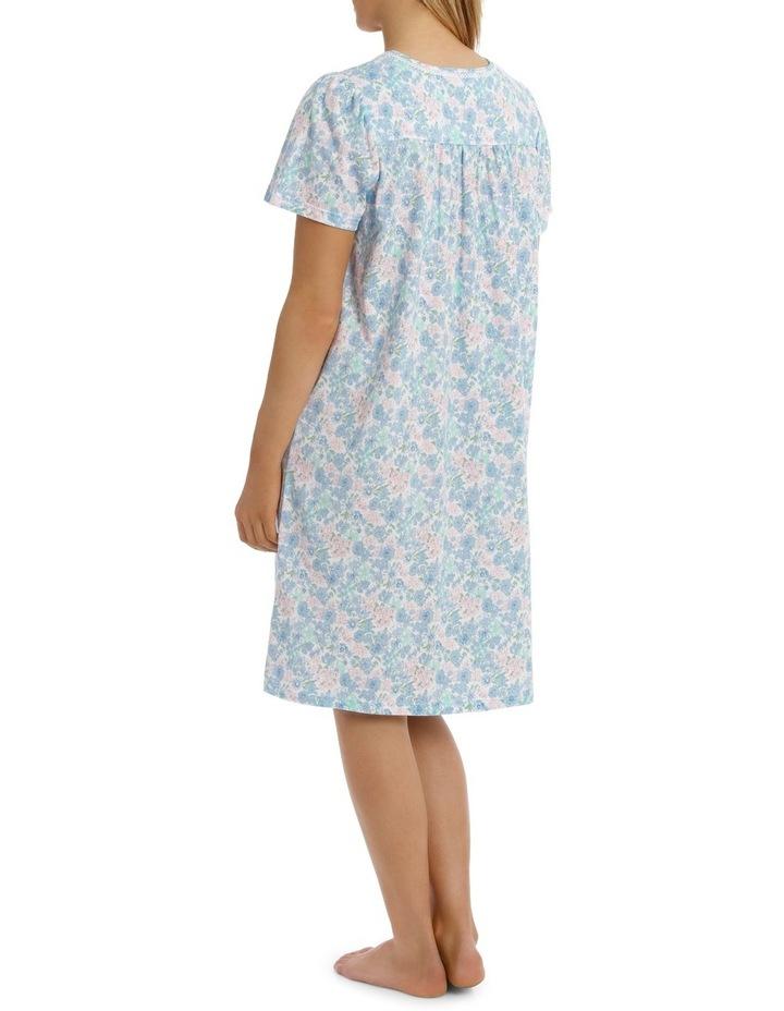 'Print Jersey Knit' Vicky Short Sleeve Short Nightie 6LP04V image 2