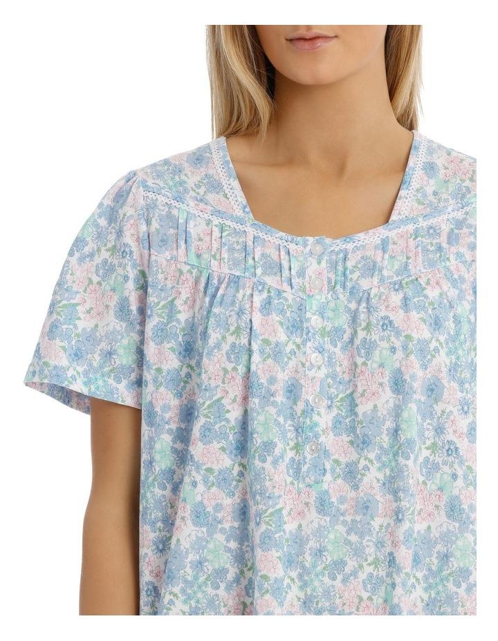 'Print Jersey Knit' Vicky Short Sleeve Short Nightie 6LP04V image 3