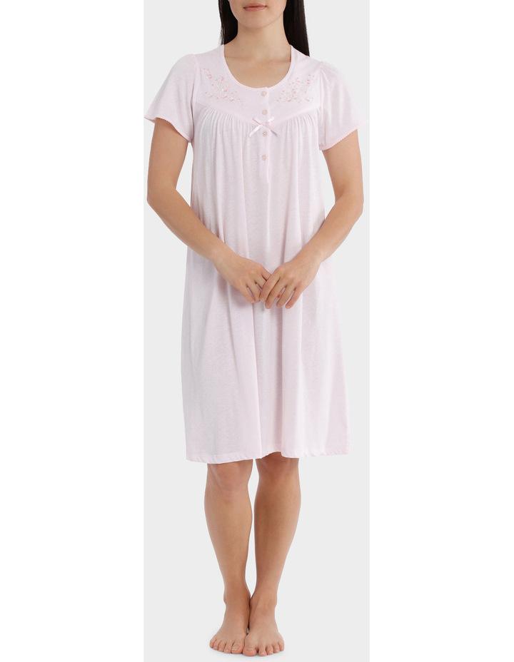 'Cherry Blossom' Short Sleeve Knit Nightie SK206MY image 1