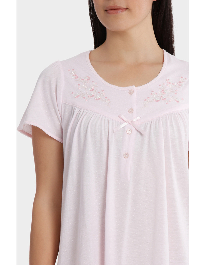 'Cherry Blossom' Short Sleeve Knit Nightie SK206MY image 3