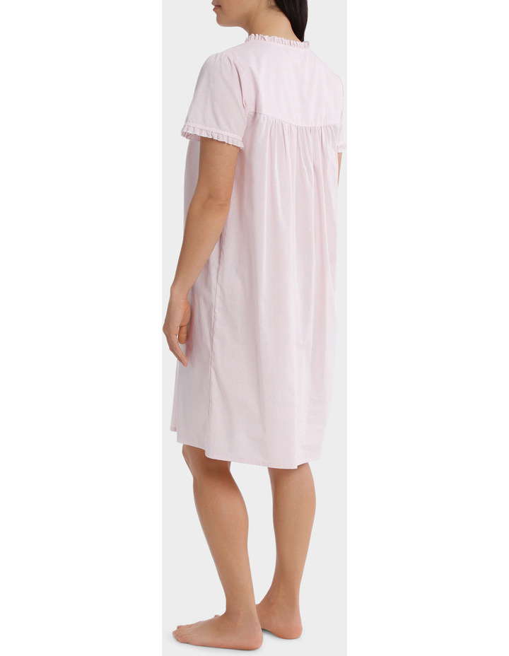 'Blossom Gingham' Short Sleeve Woven Nightie SK220MY image 2